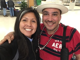 North Carolina contingency: Nanibaa and Dana Warrington (Menominee/Prairie Band Potawatomi)